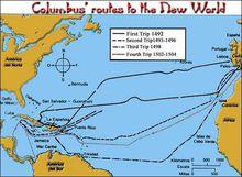 哥伦布美洲航线